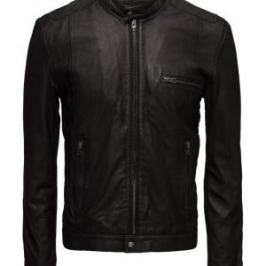 MDK / Munderingskompagniet Karl Leather Jacket (Black) nahkatakki