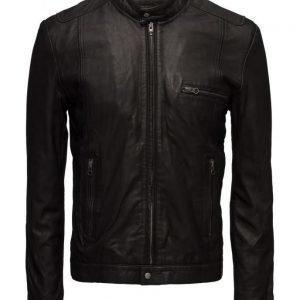 MDK / Munderingskompagniet Karl Leather Jacket (Black) nahkatakki