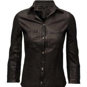 MDK / Munderingskompagniet Kirsty Leather Shirt pitkähihainen paita