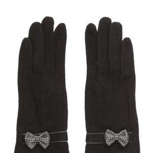 MJM Butterfly Knit Wool Mix Black hanskat
