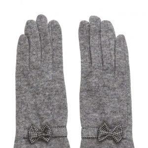 MJM Butterfly Knit Wool Mix Grey hanskat