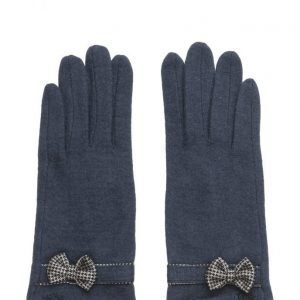 MJM Butterfly Knit Wool Mix Navy hanskat