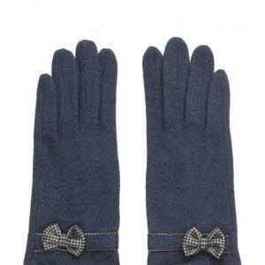 MJM Butterfly Knit Wool Mix Navy hanskat