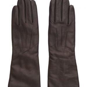 MJM Francesca Long Glove Leather Brown hanskat