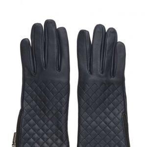 MJM Mjm Glove Lucille W Quilted Sheepskin Navy hanskat