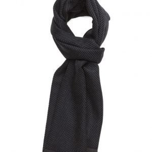 MJM Mjm Scarf Montapone 100 % Lambswool Navy huivi