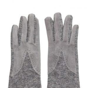 MJM Split Wool/Suede Greymel. hanskat