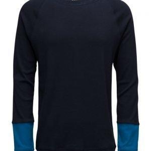 Mads Nørgaard Cotton Rib Stelt Block Sleeve pitkähihainen t-paita