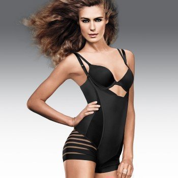 Maidenform Sleek Stripes W.Y.O.B. Romper
