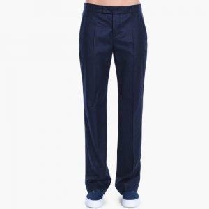 Maison Kitsune Flannel Masculine Pants