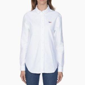 Maison Kitsune Oxford Tricolor Patch Classic Shirt
