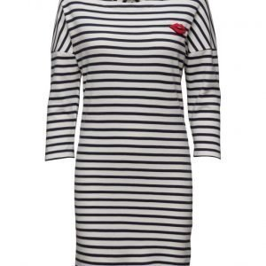 Maison Scotch 3/4 Sleeve Sweat Dress With Button Details mekko