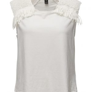 Maison Scotch Beach Fringe Tee