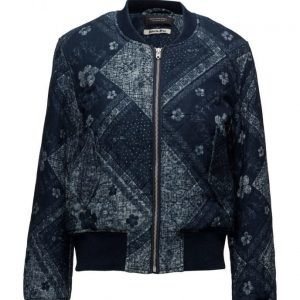 Maison Scotch Bomber Jacket In Indigo Quality bomber takki