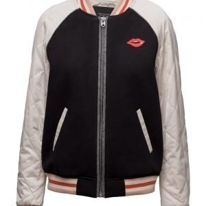 Maison Scotch Bomber Jacket With Contrast Sleeves bomber takki