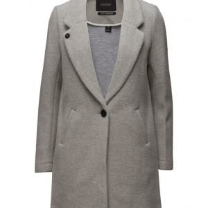 Maison Scotch Bonded Wool Coat In Checks & Solids villakangastakki