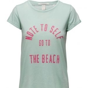 Maison Scotch Burnout Tee With Beach Inspired Artworks