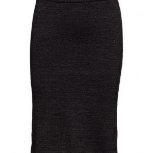 Maison Scotch Cotton Lurex Knitted Pencil Skirt mekko