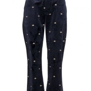 Maison Scotch Cropped Straight Leg Velvet Pant With Co leveälahkeiset housut