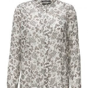 Maison Scotch Drapey Viscose Blouse In Various Dessins pitkähihainen pusero