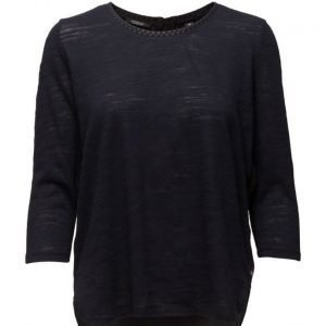 Maison Scotch Feminine Jersey Top Mixed With Woven.