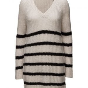 Maison Scotch Home Alone Oversized V-Neck Hairy Striped Knit neulepusero