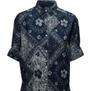 Maison Scotch Indigo Bandana Shirt lyhythihainen paita