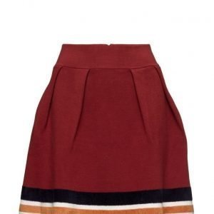 Maison Scotch Knitted Skirt With Sporty Stripes At Hem lyhyt hame