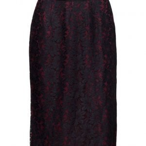 Maison Scotch Lace Pencil Skirt With Contrast Lining kynähame