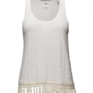 Maison Scotch Linen Tank With Fringed Hem