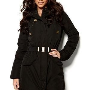 Maison Scotch Long Nylon Jacket Musta