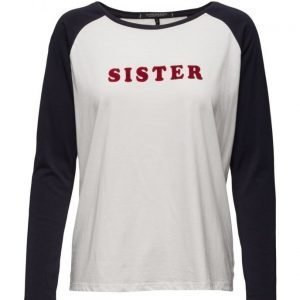 Maison Scotch Long Sleeve Baseball Tee With Cool Artwo