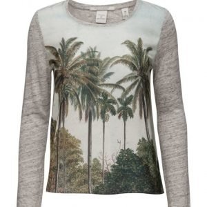 Maison Scotch Long Sleeve Photoprinted Top