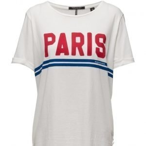Maison Scotch Oversized Short Sleeve Tee With Bold Art