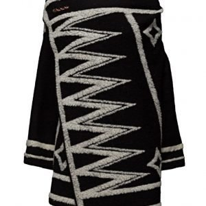Maison Scotch Poncho With Graphic Pattern