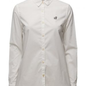 Maison Scotch Preppy Shirt With Cool Embroideries pitkähihainen paita