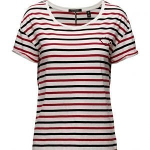 Maison Scotch Relaxed Fit Short Sleeve Tee With Variou