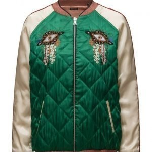 Maison Scotch Reversible Relaxed Fit Bomber Jacket With Embroideries bomber takki