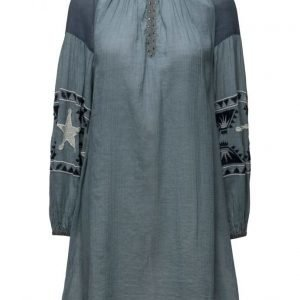 Maison Scotch Sheer Cotton Tunic Dress With Special Embroideries lyhyt mekko