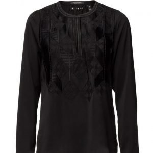 Maison Scotch Silky Feel Top With Embroideries pitkähihainen pusero