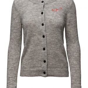 Maison Scotch Soft Crew Neck Cardigan With Chest Embro neuletakki