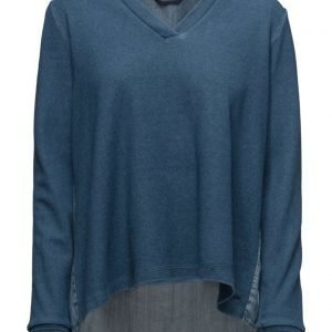 Maison Scotch Soft Sweat With Denim Back Panel neulepusero