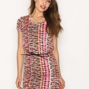 Maison Scotch Straight Fit Tee Dress Loose Fit Mekko Kuviollinen