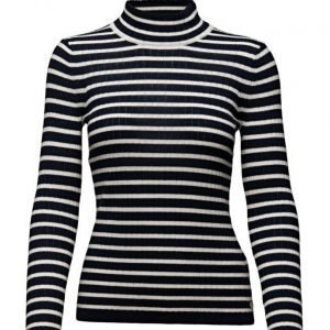 Maison Scotch Turtleneck Knit In Various Stripes poolopaita