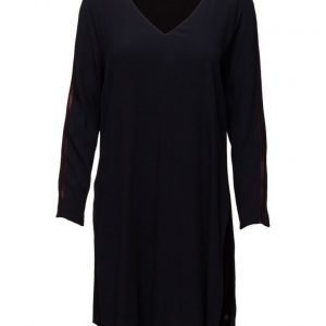 Maison Scotch Viscose Long Sleeve Dress With Side Slit lyhyt mekko
