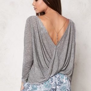 Make Way Cara Top Light grey melange
