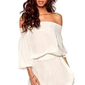 Make Way Daphne Dress White