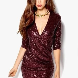 Make Way Esther Dress Burgundy