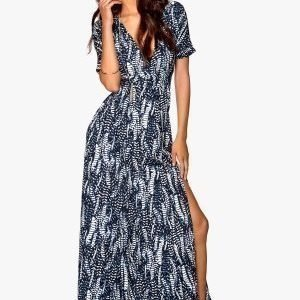 Make Way Eugene Maxi Dress Dark blue / White / Patterned