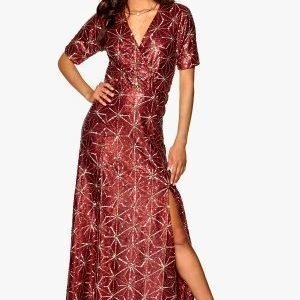 Make Way Eugene Maxi Dress Dark red / Gold